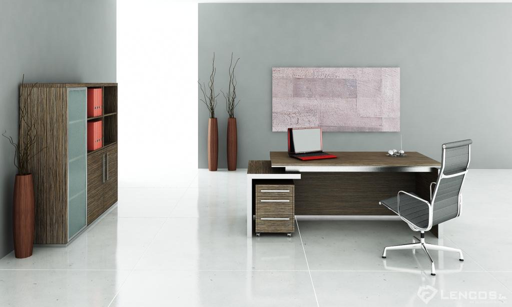 Elegantný a luxusný nábytok v kancelárii